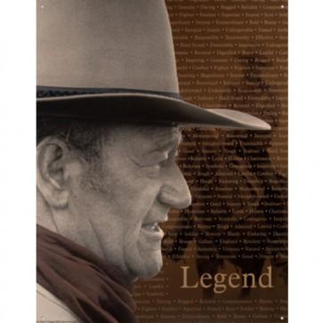 John Wayne Legend Tin Sign