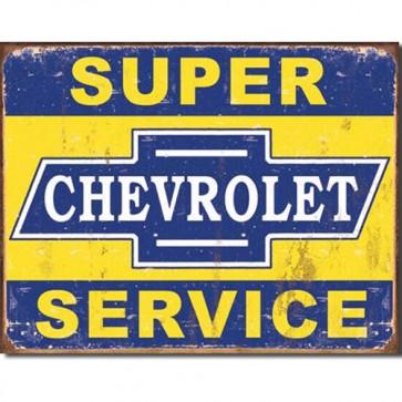 General Motors - Super Chevy Service - Tin Sign