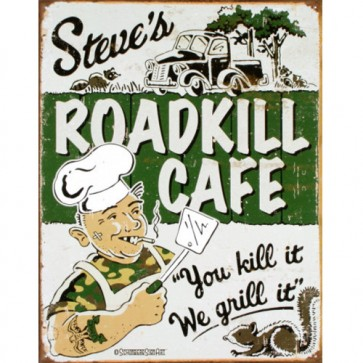 Moore - Steve's Cafe - Tin Sign