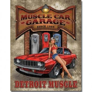 Legends - Muscle Car Garage - Tin Sign