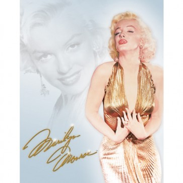 Marilyn - Gold Dress - Tin Sign