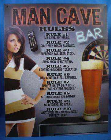 Man Cave - Rules Tin Sign