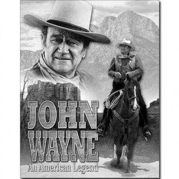 Wayne - American Legend - Tin Sign