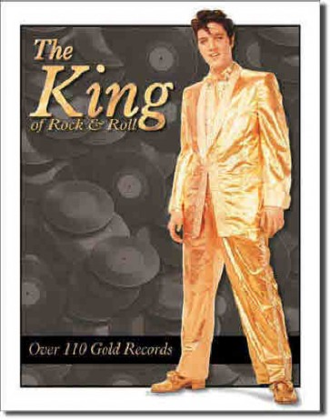 Elvis - Gold Lame Suit - Tin Sign