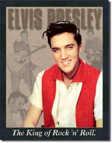 Elvis - Portrait - Tin Sign