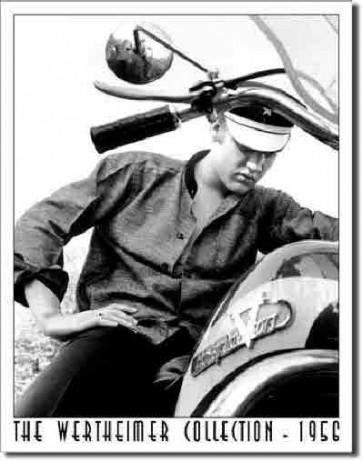 Wertheimer - Elvis On Bike - Tin Sign