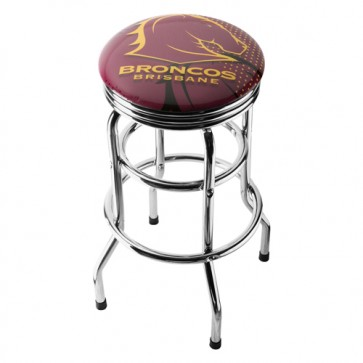 NRL Double Ring BAR STOOL - Brisbane BRONOS