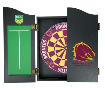 NRL Licensed DARTBOARD PACK - Brisbane BRONCOS New Design 2015