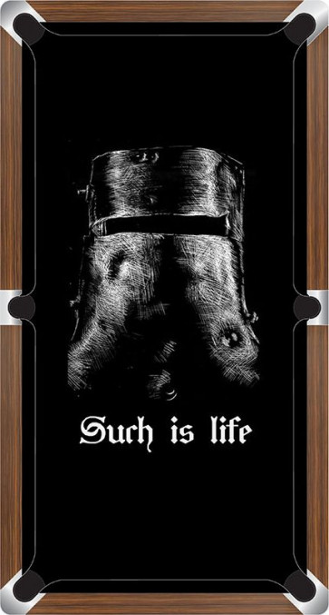 Graphic Digitally Printed Outlaw Ned Kelly Helmet Such Is Life 8ft Pool Table Cloth
