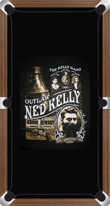 Graphic Digitally Printed Outlaw Kelly Gang Ned Kelly 9ft Pool Table Cloth