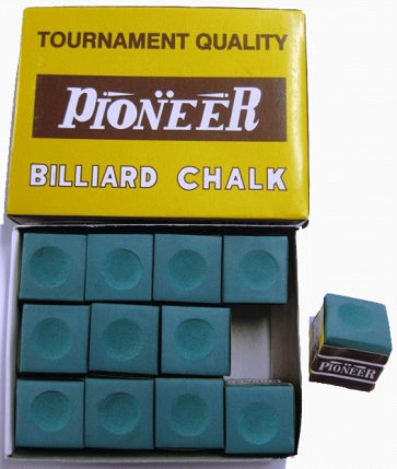 Pioneer Pool Snooker Billiards CUE CHALK - 12 Pieces - GREEN