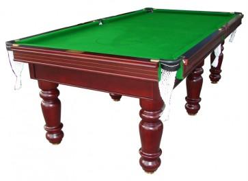 Charlton Pro Slate 6 leg Pool Table Mahogany Green 7F