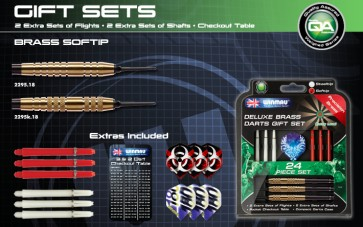Winmau Gift Pack Brass Darts Set 24gm