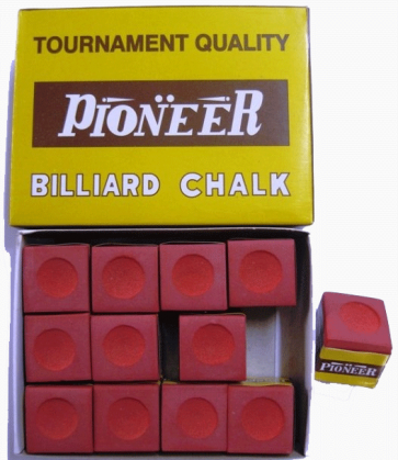 Pioneer Pool Snooker Billiards CUE CHALK - 12 Pieces - RED