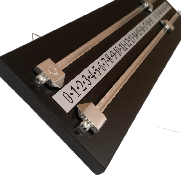 Wooden Snooker Billiards SCOREBOARD - BLACK with SILVER Pointers and Rails