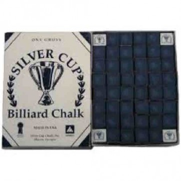 Silver Cup Billiard CUE CHALK 12 Pieces - PURPLE - Made In USA