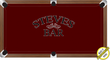 Graphic Digitally Printed Personalisable Standard Bar 9ft Pool Table Cloth