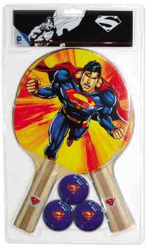 Superman 2 Player TABLE TENNIS Set with 2 Bats & 3 Balls
