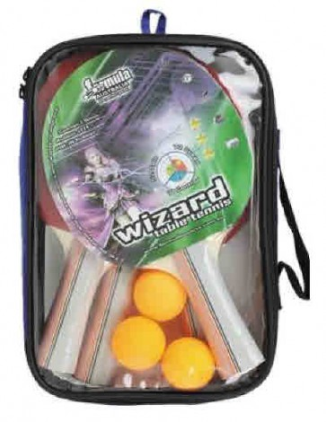Wizard 4 Player 3 Star Table Tennis Set