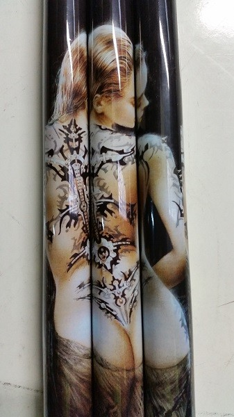 Adult Only Pool/Billiard Tattoo Graphite Cue