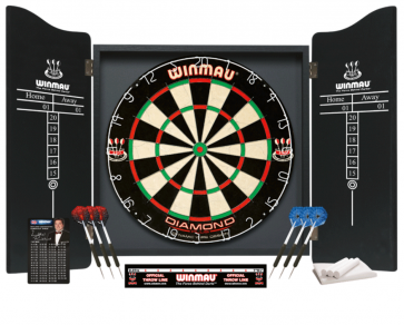 Winmau Professional Dartboard Cabinet Dart Set