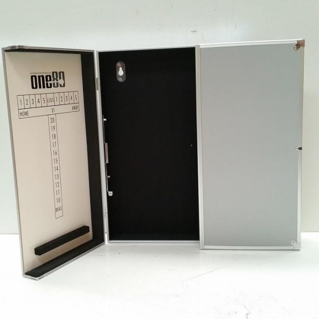Charmant Aluminium Dartboard Cabinet   Silver