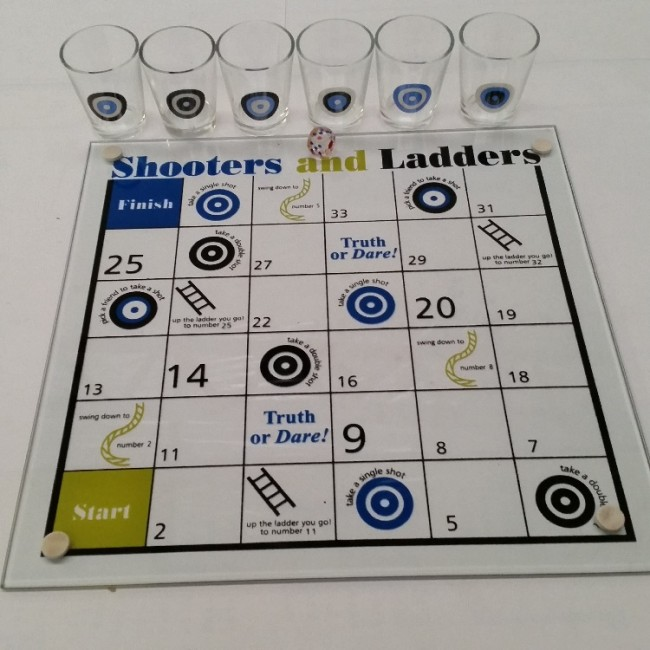 Shooters And Ladders Shot Glass Drinking Game
