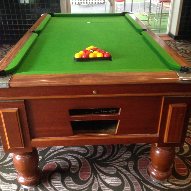 ExHotel Ft Electronic Coin Op Slate Pool Table With Accessories - Electronic pool table