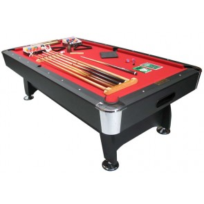 Charlton 8 Foot Snooker Pool Table & THE LOT Red