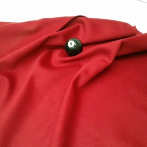 Eddie Charlton DIRECTIONAL Pool Snooker Billiards CLOTH 10X5 - BURGUNDY