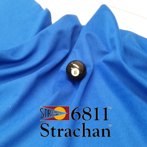 STRACHAN 6811 English Pool Snooker Billiards CLOTH 9ft x 4.6ft - BLUE
