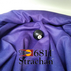 STRACHAN 6811 English Pool Snooker Billiards CLOTH 9ft x 4.6ft - PURPLE