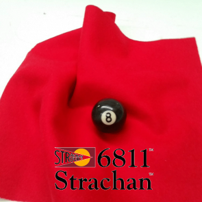 STRACHAN 6811 English Pool Snooker Billiards CLOTH 10ft x 5ft - RED