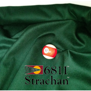 STRACHAN 6811 English Pool Snooker Billiards CLOTH 9ft x 4.6ft - SPRUCE