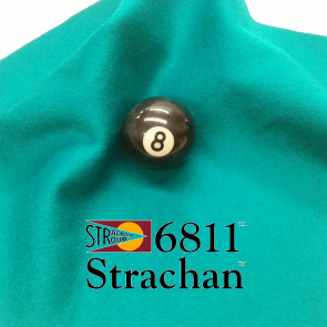 STRACHAN 6811 English Pool Snooker Billiards CLOTH 8ft x 4ft - TURQUOISE