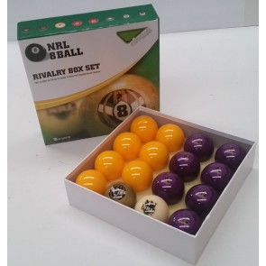 NRL Licensed POOL BALLS - 16 Pack - Melbourne STORM