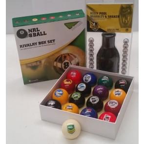 NRL Licensed KELLY POOL BALLS - Mixed TEAM SET
