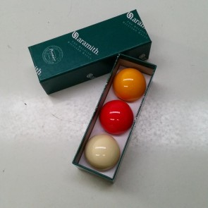"Aramith BILLIARD BALL Set 2 1/16"" - TRI COLOUR - SUPER"