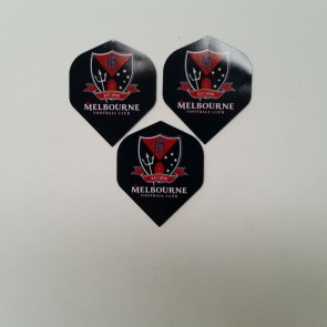 AFL Licensed DART FLIGHTS x 3 - Melbourne DEMONS