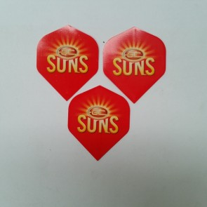 AFL Licensed DART FLIGHTS x 3 - Gold Coast SUNS