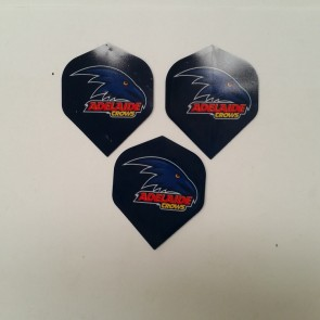 AFL Licensed DART FLIGHTS x 3 - Adelaide CROWS