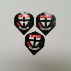 AFL Licensed DART FLIGHTS x 3 - St Kilda SAINTS