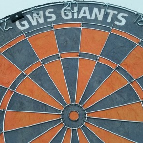 AFL Licensed DARTBOARD - Greater Western Sydney GWS GIANTS