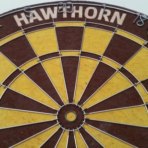 AFL Licensed DARTBOARD - Hawthorn HAWKS