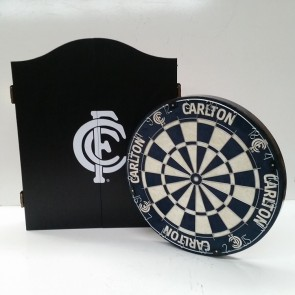 AFL Licensed DARTBOARD PACK - Carlton BLUES
