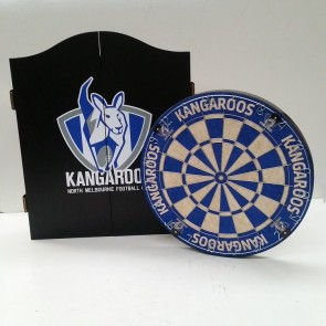 AFL Licensed DARTBOARD PACK - North Melbourne KANGAROOS