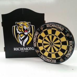 AFL Licensed DARTBOARD PACK - Richmond TIGERS
