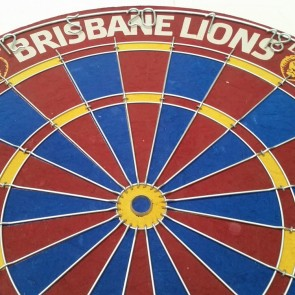 AFL Licensed DARTBOARD - Brisbane LIONS