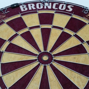 NRL Licensed DARTBOARD - Brisbane BRONCOS