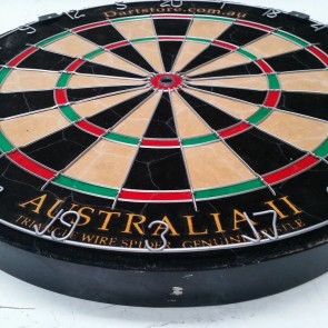 New Australia II Micro/Triangle Wire Genuine Bristle Dartboard + Free Darts
